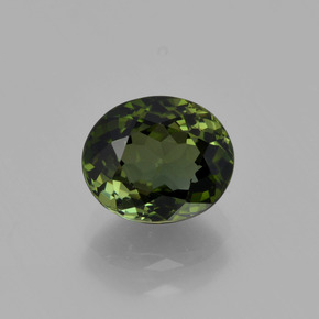 1.7ct Oval Facet Forest Green Tourmaline Gem (ID: 415166)