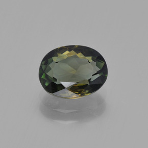 1.3ct Oval Facet Brownish Green Tourmaline Gem (ID: 415174)
