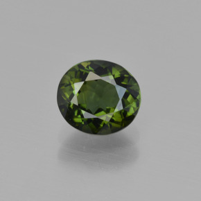 Deep Green Tourmaline Gem - 1.1ct Oval Facet (ID: 415242)