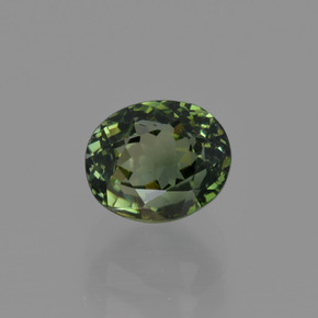 1.3ct Oval Facet Brownish Green Tourmaline Gem (ID: 415255)