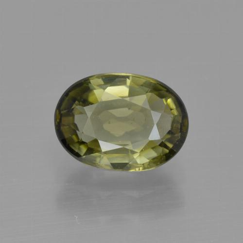 1.2ct Oval Facet Yellowish Green Tourmaline Gem (ID: 415331)