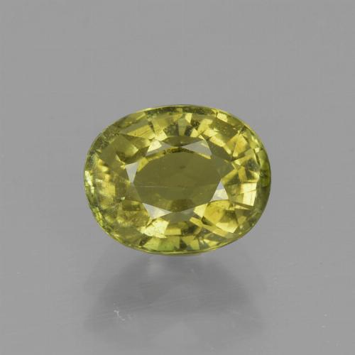 1.2ct Oval Facet Earthy Yellow Tourmaline Gem (ID: 415332)