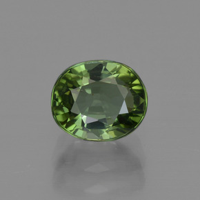 1.3ct Oval Facet Yellowish Green Tourmaline Gem (ID: 415333)