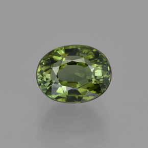 1.3ct Oval Facet Yellowish Green Tourmaline Gem (ID: 415426)