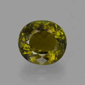 2.6ct Oval Facet Brownish Green Tourmaline Gem (ID: 415434)
