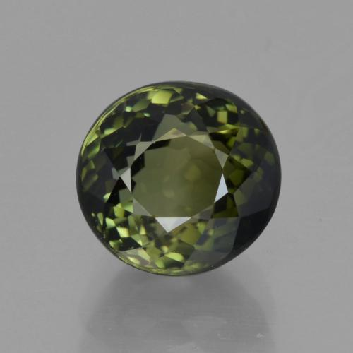 2.60 ct Oval Facet Green Tourmaline Gemstone 7.92 mm x 7.6 mm (Product ID: 415437)