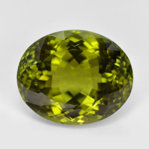 12.3ct Oval Facet Golden Green Tourmaline Gem (ID: 416463)