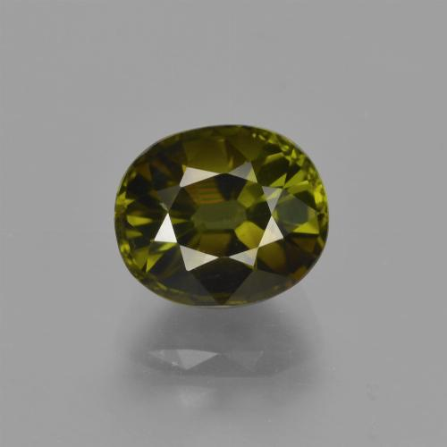 2.35 ct Oval Facet Golden Green Tourmaline Gemstone 8.31 mm x 7.1 mm (Product ID: 416475)