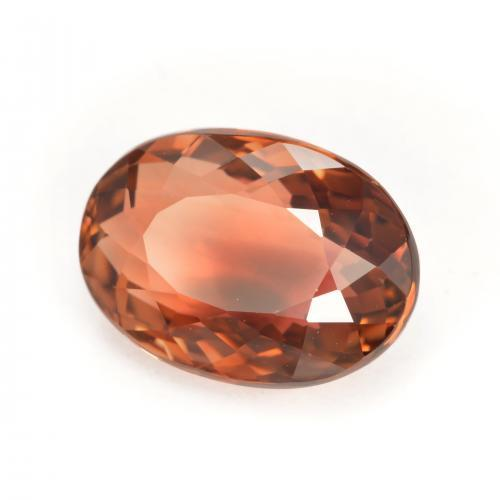 Orangy Red Tourmaline Gem - 5ct Oval Facet (ID: 417183)