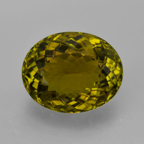 Golden Green Tourmaline Gem - 5.3ct Oval Facet (ID: 417187)