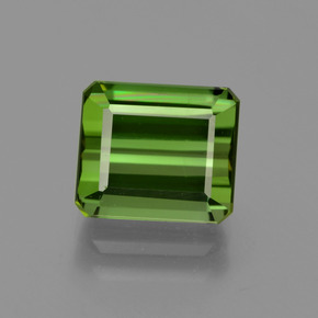 3.27 ct Octagon Facet Yellowish Green Tourmaline Gemstone 8.68 mm x 7.5 mm (Product ID: 417196)