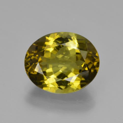 Warm Green Tourmaline gemme - 3.4ct Ovale facette (ID: 417202)
