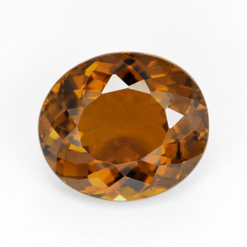 Orange Brown Tourmaline Gem - 3.7ct Oval Facet (ID: 417211)