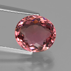 3.66 ct Oval Facet Rose Pink Tourmaline Gemstone 9.98 mm x 9 mm (Product ID: 417212)