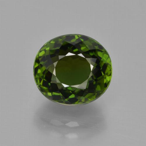 3.51 ct Oval Portuguese-Cut Green Tourmaline Gemstone 9.38 mm x 8.6 mm (Product ID: 417213)