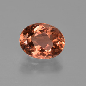 Orange Tourmaline 2 Carat Oval From Mozambique Natural And