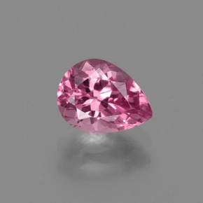 1.33 ct Pear Facet Rose Pink Tourmaline Gemstone 8.09 mm x 6 mm (Product ID: 417269)