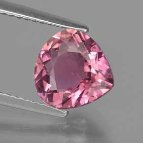 1.90 ct Pear Facet Rose Pink Tourmaline Gemstone 8.62 mm x 8.6 mm (Product ID: 417272)