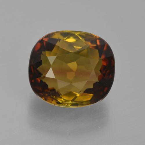 Medium-Dark Brown Tourmaline gemme - 4.7ct Coussin-coupe (ID: 417490)