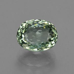 3.41 ct Oval Portuguese-Cut Green Tourmaline Gemstone 9.46 mm x 7.4 mm (Product ID: 417830)