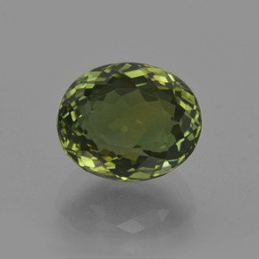 3.58 ct Oval Facet Green Tourmaline Gemstone 9.65 mm x 8.1 mm (Product ID: 417831)