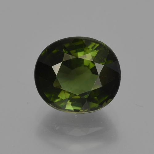 1.7ct Oval Facet Yellowish Green Tourmaline Gem (ID: 418663)