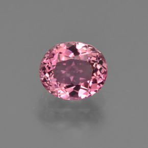 1.24 ct Oval Facet Magenta Pink Tourmaline Gemstone 7.13 mm x 6.1 mm (Product ID: 419597)