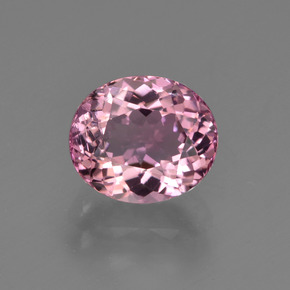 1.78 ct Oval Facet Pink Tourmaline Gemstone 7.89 mm x 6.8 mm (Product ID: 419602)