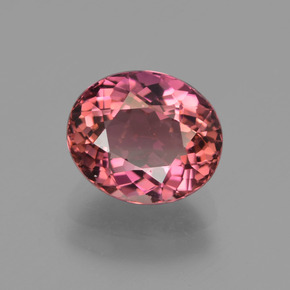 Pink Rose Tourmaline Gem - 2ct Oval Facet (ID: 419609)