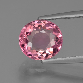 1.71 ct Oval Facet Rose Pink Tourmaline Gemstone 7.96 mm x 7.3 mm (Product ID: 419614)