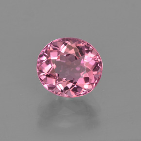 1.48 ct Oval Facet Pink Tourmaline Gemstone 7.35 mm x 6.7 mm (Product ID: 419643)
