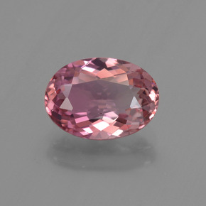 2.07 ct Oval Facet Rose Pink Tourmaline Gemstone 9.98 mm x 7.2 mm (Product ID: 419681)