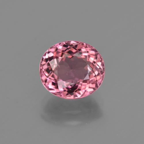 2.02 ct Oval Facet Rose Pink Tourmaline Gemstone 8.16 mm x 7.3 mm (Product ID: 419682)