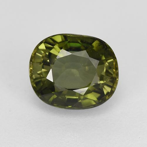 1.1ct Oval Facet Forest Green Tourmaline Gem (ID: 419817)