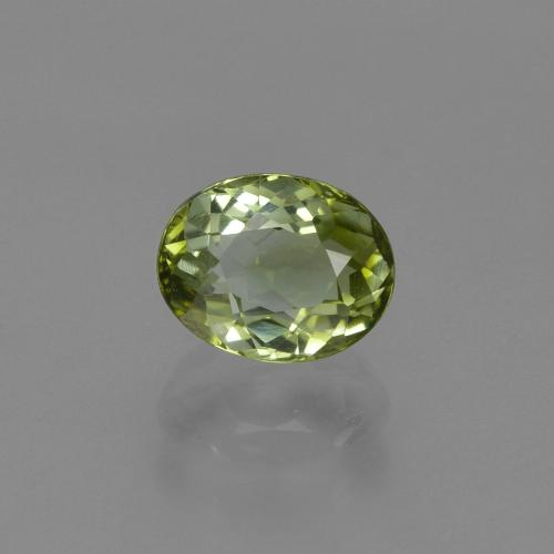 1ct Oval Facet Yellowish Green Tourmaline Gem (ID: 419819)