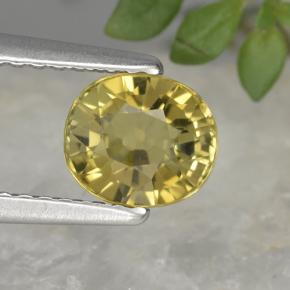 Light Golden-Yellow Turmalina Gema - 1.2ct Forma ovalada (ID: 419851)