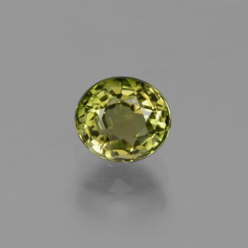 1ct Oval Facet Yellowish Green Tourmaline Gem (ID: 419932)
