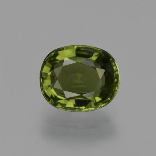1.1ct Oval Facet Seaweed Green Tourmaline Gem (ID: 420027)