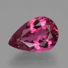 2.08 ct Pear Facet Rose Pink Tourmaline Gemstone 10.27 mm x 7 mm (Product ID: 420065)