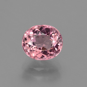 1.43 ct Oval Facet Rose Pink Tourmaline Gemstone 7.20 mm x 6.3 mm (Product ID: 424167)