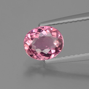 1.01 ct Oval Facet Rose Pink Tourmaline Gemstone 7.04 mm x 5.9 mm (Product ID: 424176)