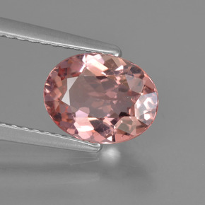 1.5ct Oval Facet Fruit Punch Red Tourmaline Gem (ID: 424377)