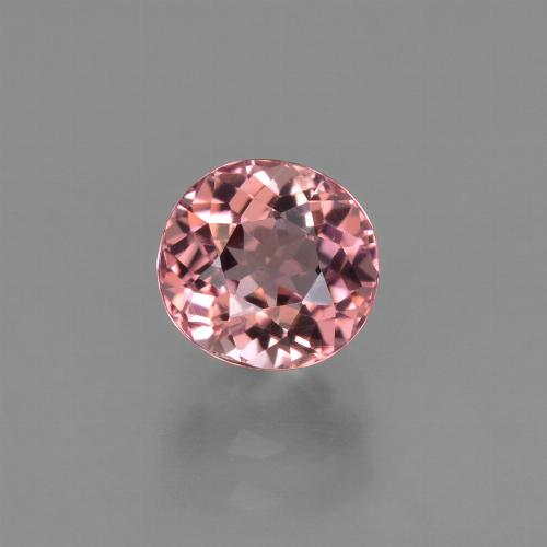 1.12 ct Oval Facet Rose Pink Tourmaline Gemstone 5.95 mm x 5.7 mm (Product ID: 424378)