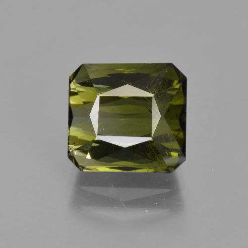 Golden Green Tourmaline Gem - 3.2ct Octagon / Scissor Cut (ID: 424438)
