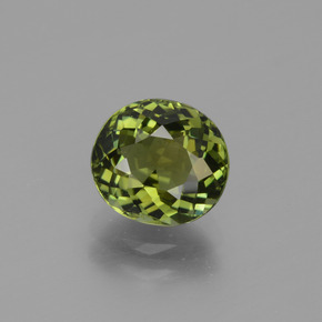 1.61 ct Oval Facet Green Tourmaline Gemstone 7.54 mm x 6.9 mm (Product ID: 431866)