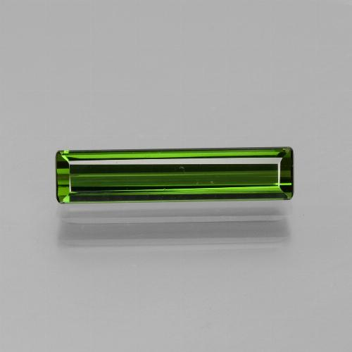 1.58 ct Octagon Facet Green Tourmaline Gemstone 15.57 mm x 3.5 mm (Product ID: 437768)