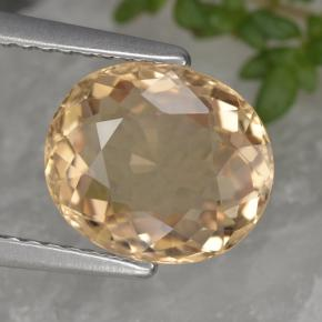 2.4ct Oval Facet Yellow Tourmaline Gem (ID: 441194)