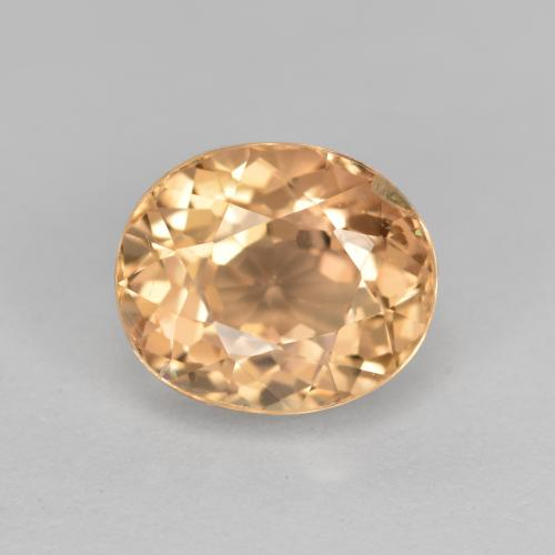 Canary Yellow Tourmaline Gem - 2.2ct Oval Facet (ID: 441195)