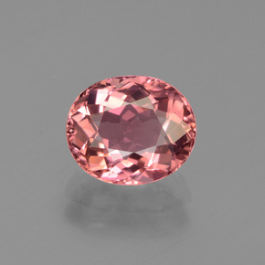 2.20 ct Oval Facet Rose Pink Tourmaline Gemstone 8.77 mm x 7.4 mm (Product ID: 441196)