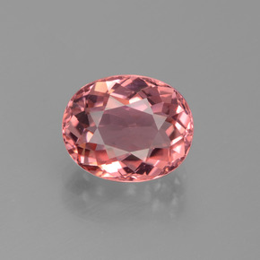 2.36 ct Oval Facet Rose Pink Tourmaline Gemstone 9.04 mm x 7.4 mm (Product ID: 441199)